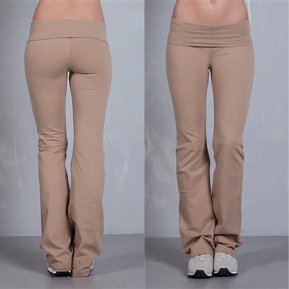 October Love Pants Jumpsuits Nwt Khaki Colored Yoga Pants Poshmark
